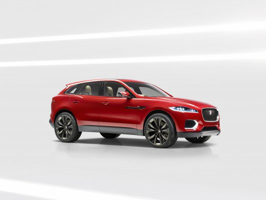 Jaguar C-X17 Sports Crossover Concept Shown in Italian Racing Red at Brussels Motor Show