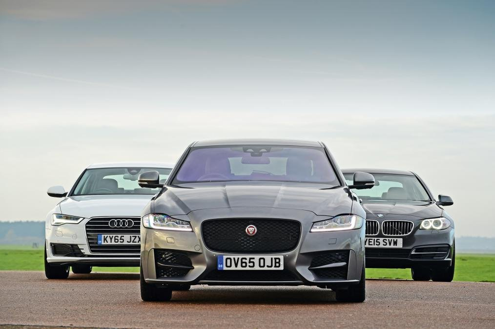 New Jaguar XF vs Audi A6 vs BMW 5 Series